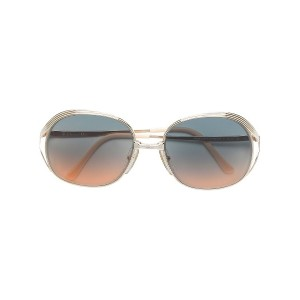 Christian Dior Vintage round framed gradient colour sunglasses - メタリック