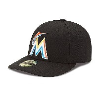 MLB マーリンズ キャップ/帽子 ゲーム ニューエラ Authentic Low Crown On-Field 59FIFTY キャップ