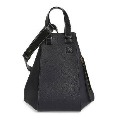 ロエベ レディース ショルダーバッグ バッグ Loewe Medium Hammock Calfskin Leather Shoulder Bag Midnight Blue/ Black