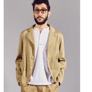 UR FREEMANS SPORTING CLUB JP PIQUE BEDFORD JACKET【アーバンリサーチ/URBAN RESEARCH メンズ その他(ジャケット・スーツ) BEIGE...