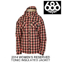 2014 686 シックスエイトシックス ジャケット WOMEN'S RESERVED TONIC INSULATED JACKET WATERMELON PLAID FLANNEL