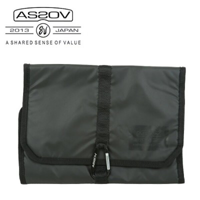 AS2OV/アッソブ TRAVEL SERIES AMENITY POUCH 061804 【ポーチ バッグ 旅行 日本正規品】