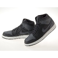 ナイキ NIKE AIR JORDAN 1 MID エア ジョーダン 1 ミッド BLACK/DARK GRAY/WHITE #554724-041