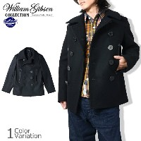 "Buzz Rickson's(バズリクソンズ) ""WILLIAM GIBSON COLLECTION"" BLACK PEA COAT (ブラック ピーコート) #BR12394"