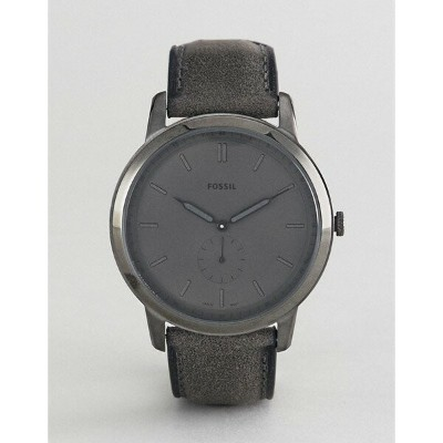 フォッシル メンズ 腕時計 アクセサリー Fossil FS5445 The Minimalist Leather Watch in Smoke Grey Grey