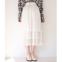 ★dポイントが貯まる★【NICE CLAUP OUTLET(ナイスクラップ アウトレット)】【one after another】シアプリーツSK【dポイントでお得に購入】