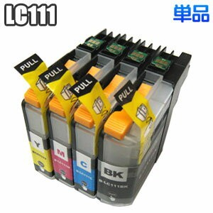 LC111 【単品】 ブラザー brother LC111BK LC111C LC111M LC111Y 互換インク icチップ付き DCP-J952N J752N J552N MFC-J870N...