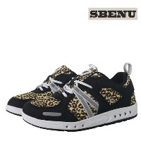 [sbenu] common E-line camino sneakers (E-011LY) Leopard yellow