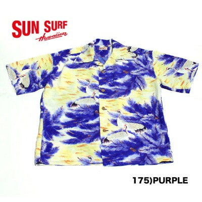 "SUN SURFRAYON S/S""RESTING CRANES ON PINE TREE""Style No.SS37456"
