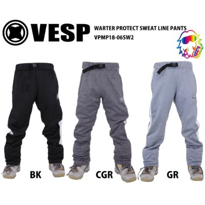 18-19 VESP【ベスプ】 WARTER PROTECT SWEAT LINE PANTS VPMP18-06SW2 スノーボードウェア