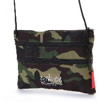 マンハッタンポーテージ Manhattan Portage CORDURA® Lite Collection Triple Zipper Pouch(L) (W.Camo) レディース メンズ