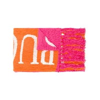 Emilio Pucci branded fringed scarf - イエロー&オレンジ
