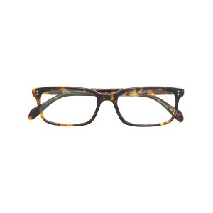 Oliver Peoples スクエア 眼鏡フレーム - ブラウン