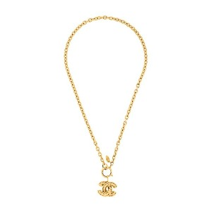 Chanel Vintage 1980s Vintage Chanel Quilted Pendant - メタリック