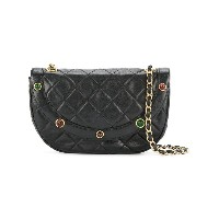 Chanel Vintage half moon quilted chain bag - ブラック