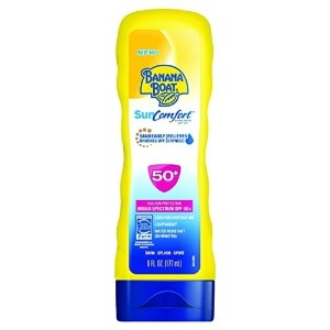 Banana Boat Sunscreen Sun Comfort Broad Spectrum Sun Care Sunscreen Lotion SPF 50  6 Ounce