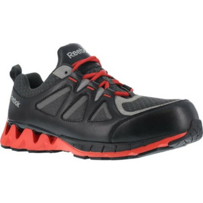 リーボック メンズ スニーカー シューズ ZigKick Work RB3000 Composite Toe Sneaker Black/Red