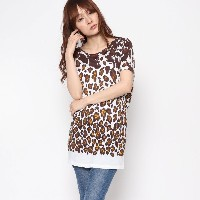 【SALE 61%OFF】ナノ ユニバース  NANO UNIVERSE outlet 【STELLA McCARTNEY】LEOPARD INK T-SHIRT (マルチ)