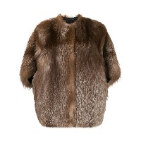Liska shortsleeved fur coat - ブラウン