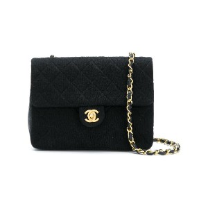 Chanel Vintage mini quilted bag - ブラック