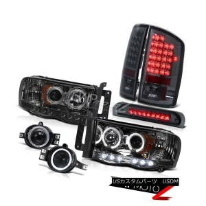 ヘッドライト Dodge 2002-2005 RAM Halo Projector Headlights+3rd Brake/LED Tail Light+Fog Lamp Dodge 2002...