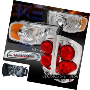 ヘッドライト 02-05 RAM 1500 2500 3500 CHROME HEADLIGHT+3D STYLE TAIL LIGHT+3RD LED BRAKE LAMP 02-05 RAM...