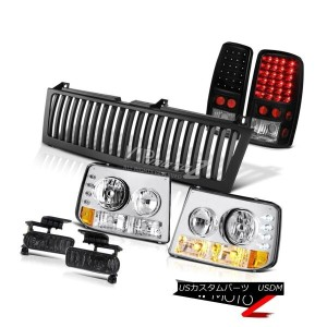 ヘッドライト 2000-2006 Suburban 8.1L Bumper Headlamps LED Tail Lights Foglights Black Grille 2000-2006郊外8...