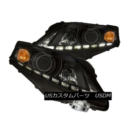 ヘッドライト Anzo 111322 Set of 2 Black Projector Headlights for 10-12 Lexus RX350 Anzo 111322 10-12...