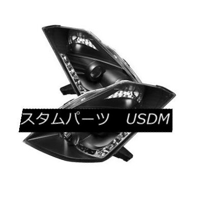 ヘッドライト Fit Nissan 06-09 350Z Black DRL LED Projector Headlights Factory HID Model Only フィット日産06-09...