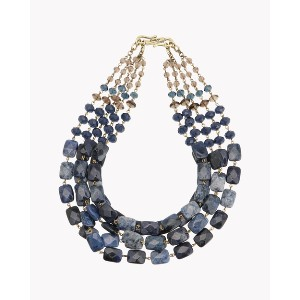 【Theory】Kong qi Color Stone Necklace ブルーストーンを基調とした重厚感のある佇まいが魅力の五連ネックレス。 その他 大人 セオリー