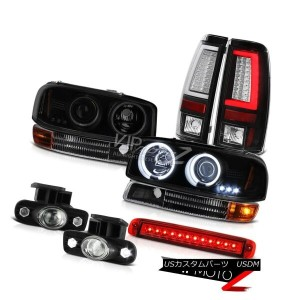ヘッドライト 99-02 Sierra 6.6L Tail Lamps Roof Cab Lamp Parking Fog CCFL Headlights Dual Halo 99-02シエラ6...