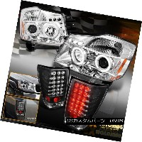 ヘッドライト New For 2004-2014 Titan Halo Projector Chrome Headlights + LED Black Tail Lights 2004年...