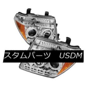 ヘッドライト Fit Nissan 05-08 Frontier / 05-07 Pathfinder CCFL Halo LED Projector Headlights フィット日産05...