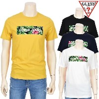 [GUESS] Flower Square Point Short Sleeve Tops NI2K6421