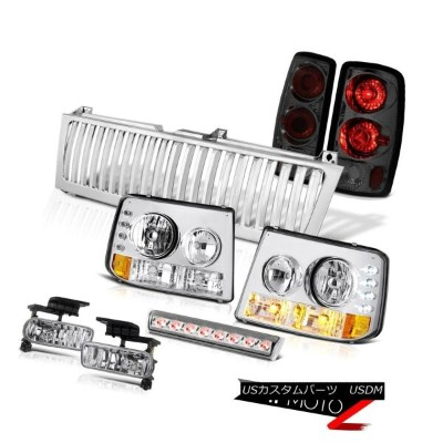 ヘッドライト 2000-2006 Tahoe LT Headlights Smoke Tail Lights Euro Fog Brake LED Chrome Grille 2000...