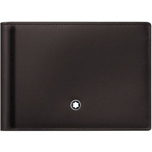 1a06953adc67 メンズ MONTBLANC Meisterstuck wallet 6cc with monew clip small 財布 ダークブラウン