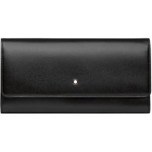 レディース MONTBLANC Meisterstück Long Wallet 10 cc with flap 財布  ブラック