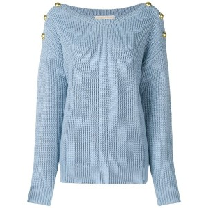 Michael Michael Kors button embellished sweater - ブルー