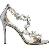 ジミーチュー レディース サンダル シューズ Karima 100 Crystal Metallic Leather Sandal Steel/Crystal Metallic Nappa...