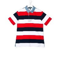 Ralph Lauren Kids striped polo shirt - レッド