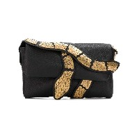 Red Valentino snake shoulder bag - ブラック
