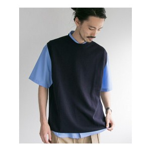 URBAN RESEARCH TWIST COTTON KNIT VEST アーバンリサーチ カットソー【送料無料】