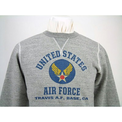 """Buzz Rickson's バズリクソンズ SET IN CREW SWEAT SHIRTS""""UNITED STATES AIR FORCE""""TRAVIS A.F.BASE,CABR67771送料無..."""