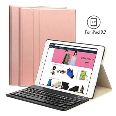 Earto iPad 9.7 2017/2018/iPad Pro 9.7/iPad Air/iPad Air 2/通用キーボード iPad第6世代 ケース キーボード Bluetooth 3.0...