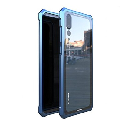 【M&Y】HUAWEI P20 Pro バンパー アルミバンパー + ガラス背面パネル付き HUAWEI P20 Pro クリア 透明 ガラス背面カバー付きHUAWEI P20 Pro 背面ケース...