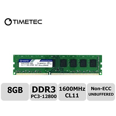 Timetec Hynix IC 8 GB デスクトップPC用メモリ DDR3L 1600 MHz PC3L 12800 240 Pin UDIMM 永久保証 (8 GB)