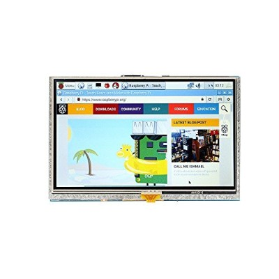 "SainSmart 5"" Inch 800x480 HDMI Touch LCD Screen Display for Raspberry Pi Pi2 Model B+ A+"