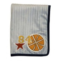 Lambs & Ivy Playoffs Ribbed Velour Blanket by Lambs & Ivy