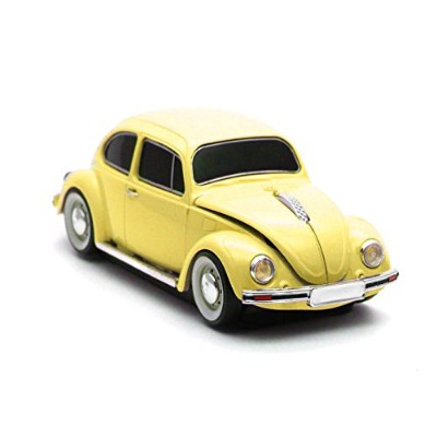 [Cassette Car Products] Classic Beetle Wireless Mouse クラシックビートル ワイヤレスマウス (イエロー)
