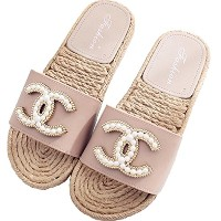 CoCo classic look Pearl Sandals CHANEL Cosme Pearl Sandals 18SS シャネルコスメ クリア パール オープントゥ ビーチサンダル ビーサン...